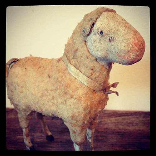 1890s German antique putz sheep