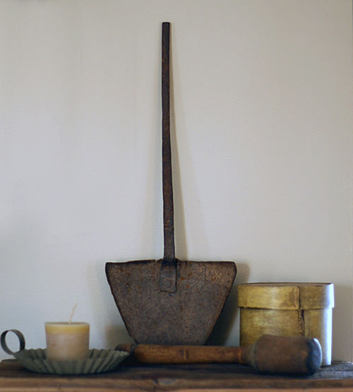 primitive antique shovel