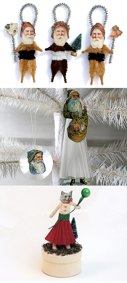 handmade Christmas ornaments by Old World Primitives
