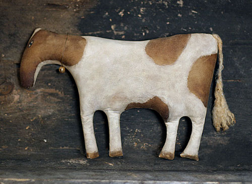 extreme primitive folk art cow doll