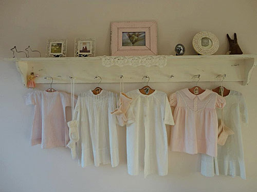 shabby chic home decor with spun cotton ornaments