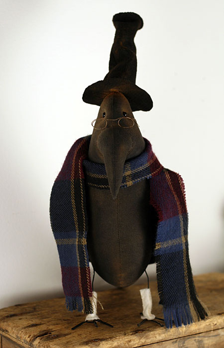 primitive crow doll