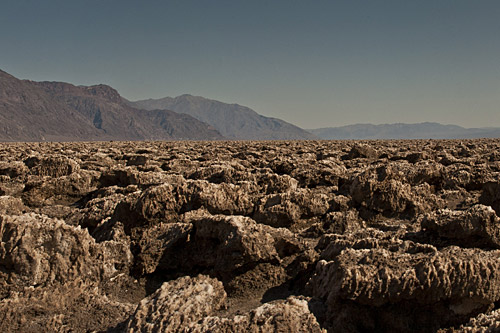 The Devil's Golf Course in Death Valley