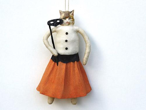 spun cotton halloween ornament