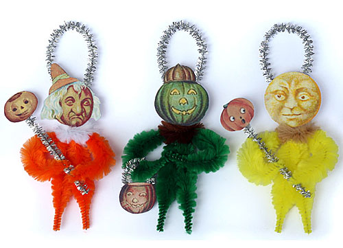 chenille Halloween ornaments