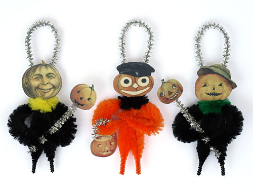 Halloween chenille ornaments