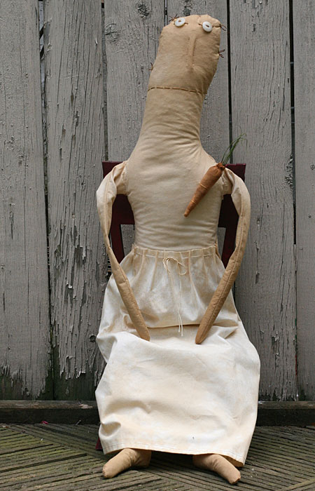 extreme primitive folk art doll