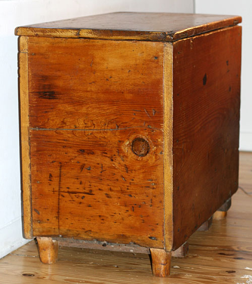 antique pine trunk