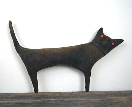 extreme primitive black cat doll