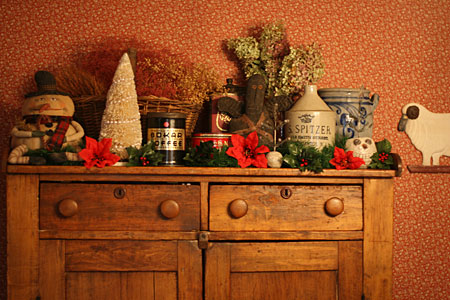 "on "" Christmas Home Tour – Primitive and Victorian Decor"