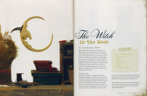 The Witch in the Moon - featured in the Prims Magazine Spring/Summer 2012 issue