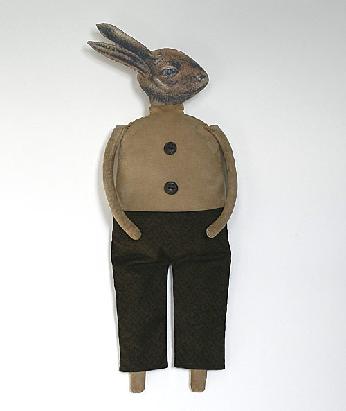 Frederick Bunworth, a handmade primitive folk art rabbit doll