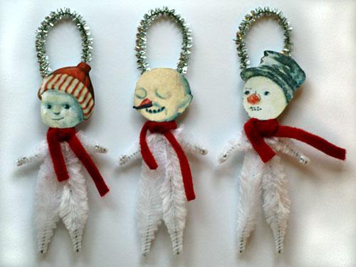 Fabulous Christmas Ornaments Primitive Folk Art By Old World Primitives Easy Diy Christmas Decorations Tissureus