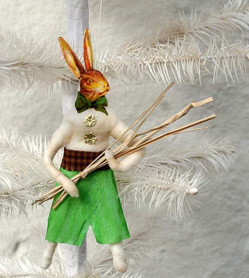 spun cotton bunny ornament