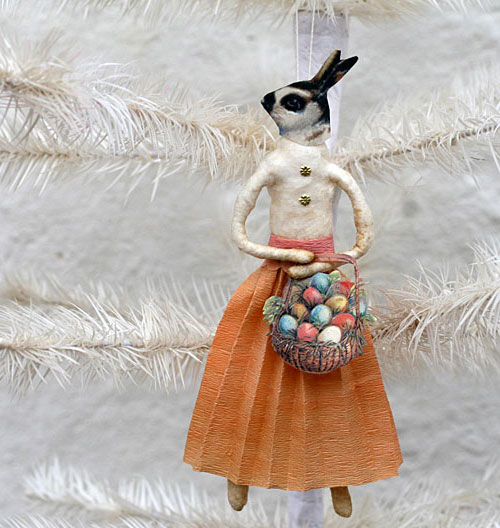 spun cotton ornament