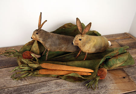 primitive summer garden with extreme prim bunnies