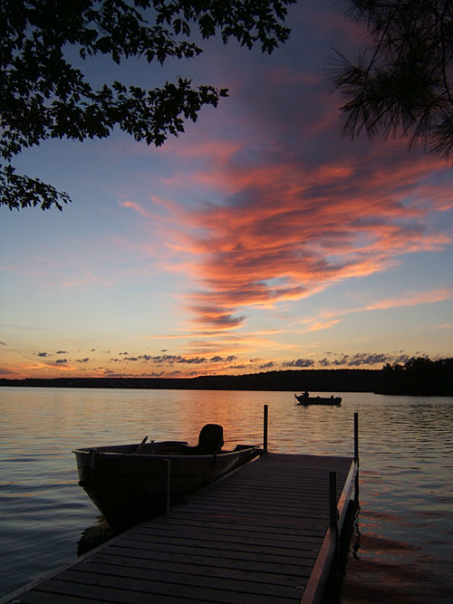 Upper Rideau lake in Westport, Ontario, Canada