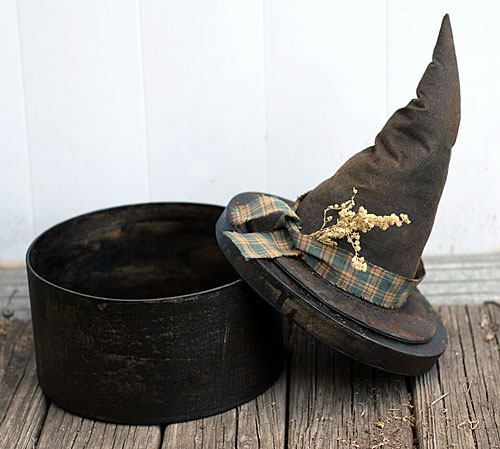 primitive witch hat box