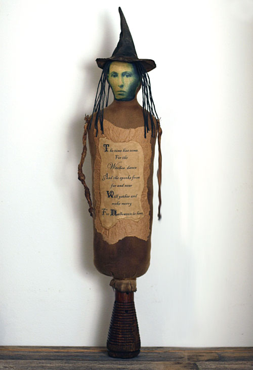 primitive folk art witch make-do